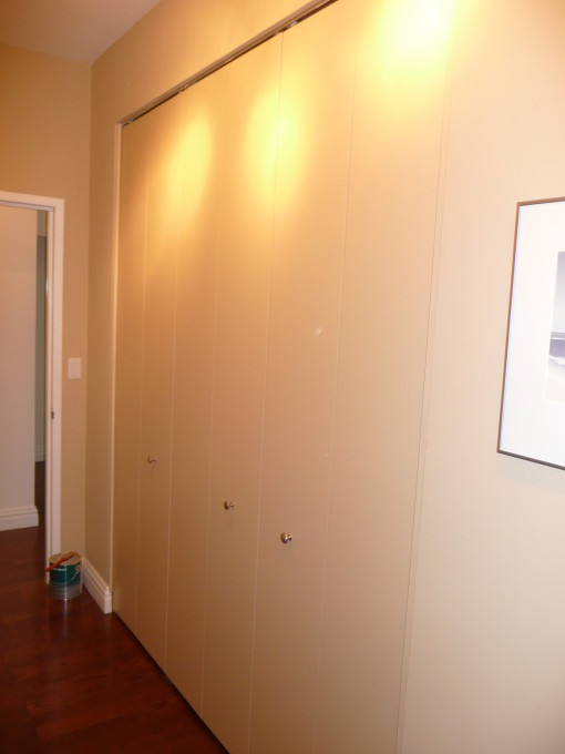 Picture Above Of 12 Foot Wide By 8 Foot High Bi Fold Custom Closet Door  Built NYC New York City Manhattan NY