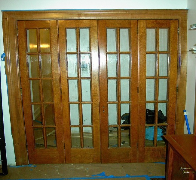 Nyc custom interior room doors bi fold sliding hinged for French accordion doors
